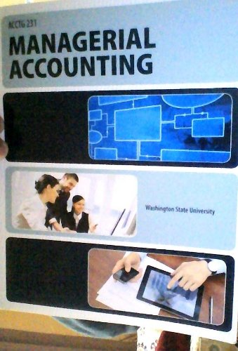 9780078118616: Managerial Accounting 231 Washington State University McGraw Hill w/ access code