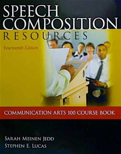 9780078119453: SPEECH COMPOSITION RESOURCES >