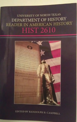 9780078119866: Reader in American History, HIST 2610 (University of North Texas, Department of History, Reader in American History, HIST 2610)