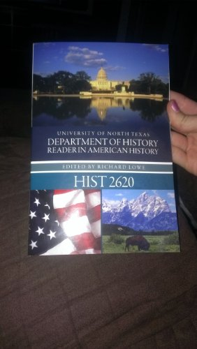 9780078119873: University of North Texas Department of History Reader (Reader in American History 2620)