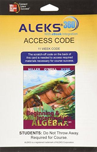 9780078123566: ALEKS 360 Access Card (11 weeks) for Beginning and Intermediate Algebra