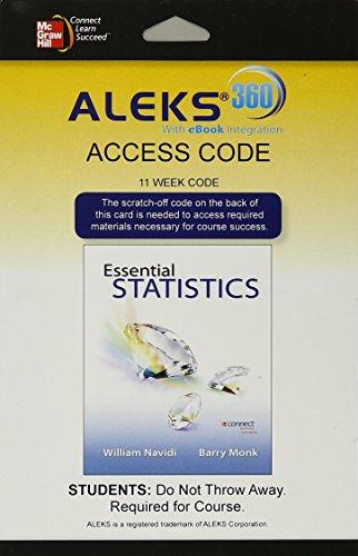 9780078124013: ALEKS 360 Access Card (11 weeks) for Essential Statistics