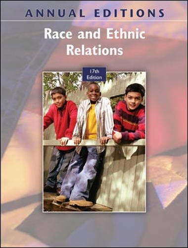 9780078127625: Annual Editions: Race and Ethnic Relations, 17/e