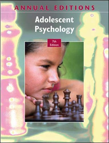 9780078127755: Annual Editions: Adolescent Psychology, 7/e