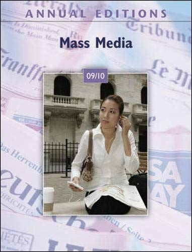 9780078127762: Annual Editions: Mass Media 09/10