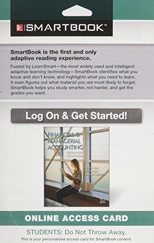 9780078128417: SmartBook Access Card for Financial and Managerial Accounting