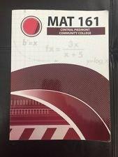 Mat 161 Central Piedmont Community College: John W. Coburn,