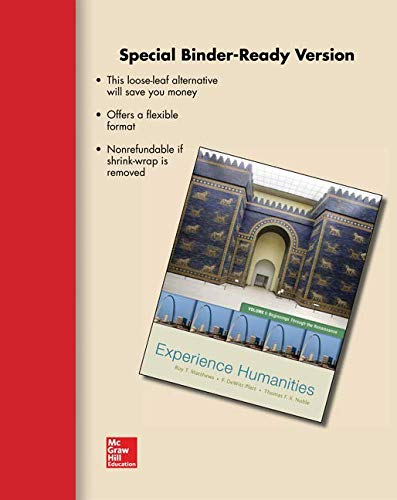 9780078132766: Loose Leaf Experience Humanities Vol 1