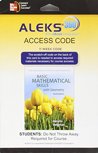 9780078133688: ALEKS 360 Access Card (11 weeks) for Basic Math Skills