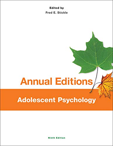 Annual Editions: Adolescent Psychology, 9/e: Fred Stickle