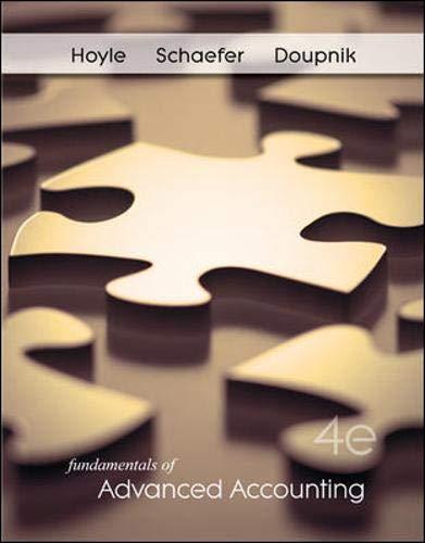 9780078136634: Fundamentals of Advanced Accounting, 4th Edition