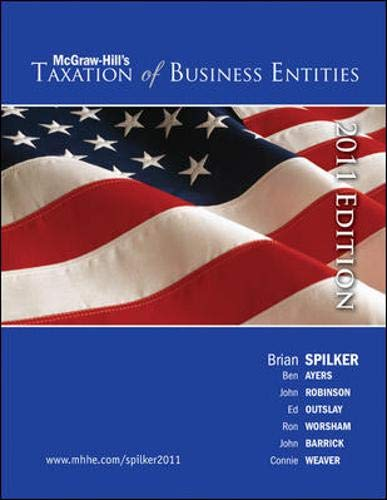 9780078136696: Taxation of Business Entities, 2011 edition