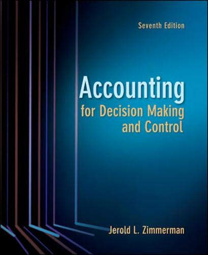 9780078136726: Accounting for Decision Making and Control
