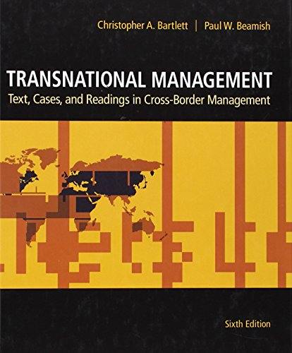 9780078137112: Transnational Management: Text, Cases & Readings in Cross-Border Management