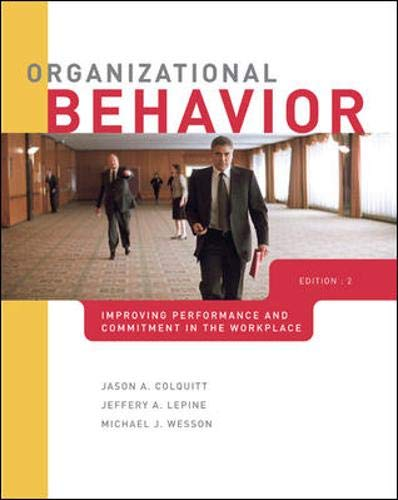 9780078137174: Organizational Behavior: Improving Performance and Commitment in the Workplace