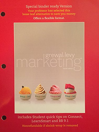 9780078138539: Marketing 4th Edition By Grewal and Levy (Loose Leaf)
