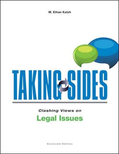 9780078139604: Taking Sides: Clashing Views on Legal Issues, 16th Edition