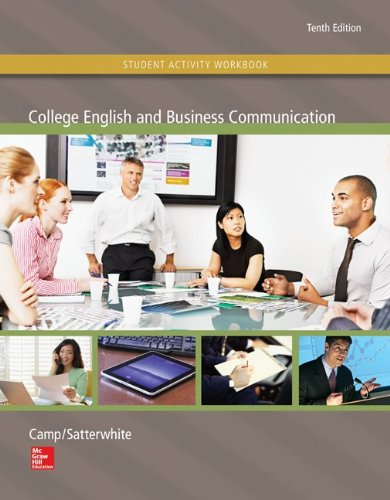 9780078139727: Student Activity Workbook for use with College English and Business Communication