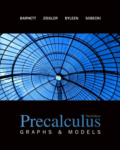 Precalculus: Graphs & Models with ALEKS User Guide & Access Code 1 Semester (9780078187773) by Raymond Barnett; Michael Ziegler; Karl Byleen; David Sobecki