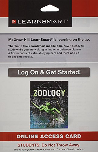 9780078201912: LearnSmart Standalone Access Card for Hickman Integrated Principles of Zoology 16e