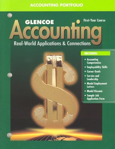 9780078203183: Glencoe Accounting First Year Course Accounting Portfolio, 4th Edition