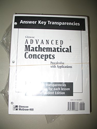 9780078203886: Advanced Mathematical Concepts, Answer Key Transparencies