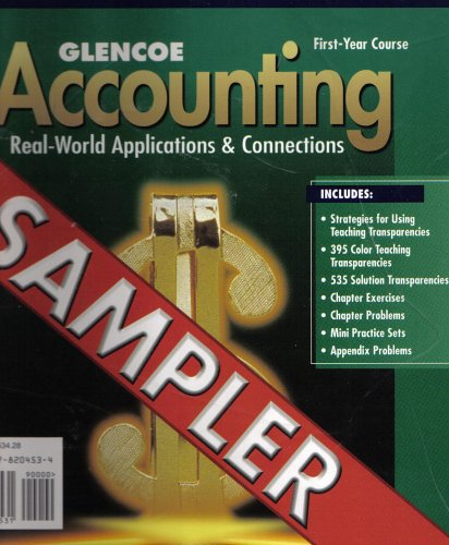 9780078204531: Glencoe Accounting Real-world Applications&Connections (First Year Course)