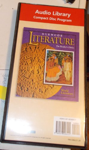 9780078206221: Glencoe Literature: World Literature...... Audio Library Compact Disc Program.