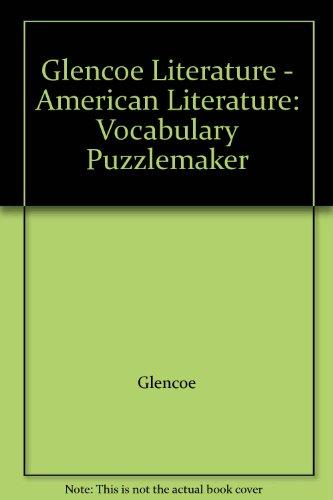 9780078206610: Glencoe Literature - American Literature: Vocabulary Puzzlemaker