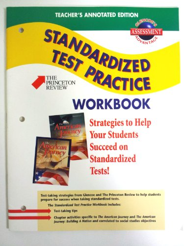9780078208379: Teacher's Annotated Edition Standardized Test Practice Workbook (Glencoe The American Journey)