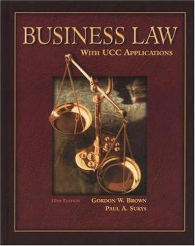 9780078210372: Business Law with UCC Applications Student Edition