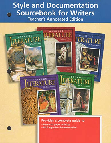 9780078212482: Style and Documentation Sourcebook For Writers Teacher's Annotated Edition (Glencoe English)