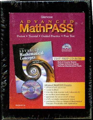 9780078212772: Advanced Mathematical Concepts, Advanced Mathpass CD-Rom