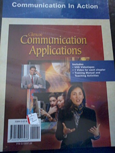9780078213038: Communication Application, Communications in Action VHS English