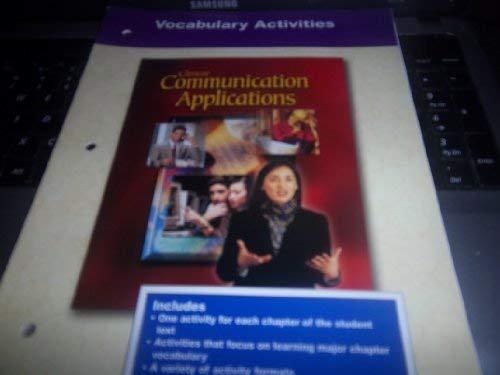 9780078213113: Glencoe Communication Applications: Vocabulary Activities