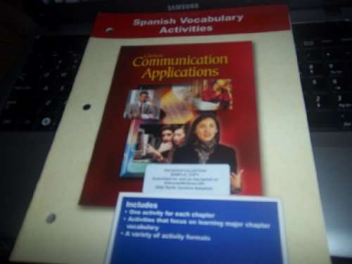 9780078213151: Communication Application Spanish Vocabulary Activities