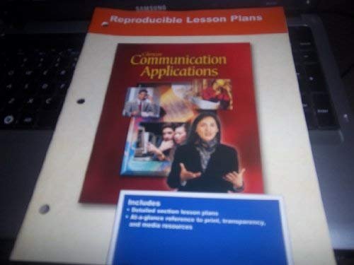 9780078213229: Glencoe Communication Applications: Reproducible Lesson Plans