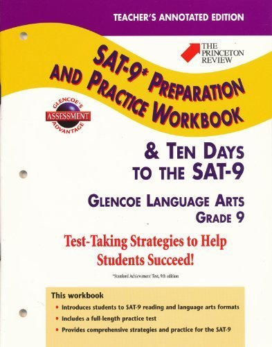 9780078213298: Teacher's Annotated Edition (The Princeton Review SAT-9* Preparation and Practice Workbook & Ten Days to the SAT-9 Grade 9)