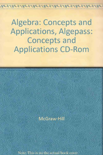 9780078213366: Algebra: Concepts and Applications, Algepass: Concepts and Applications CD-Rom
