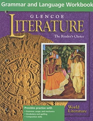 9780078215377: Glencoe Literature World Literature Grammar & Language Workbook