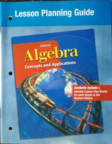 9780078215551: Algebra: Concepts and Applications, Lesson Planning Guide [Import]