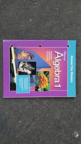 9780078215643: Glencoe Algebra 1 Answer Key Masters (Algebra 1)