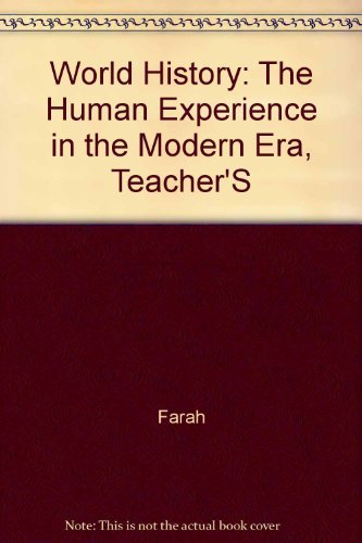 9780078216183: Teacher's Wraparound Edition (World History The Human Experience The Modern Era)