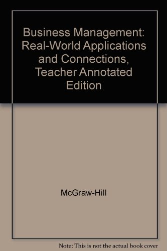 9780078216213: Business Management-real World Connections: Teacher's Annotated Edition