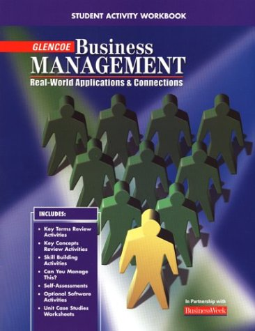 9780078216220: Business Management: Real-World Applications and Connections, Student Workbook