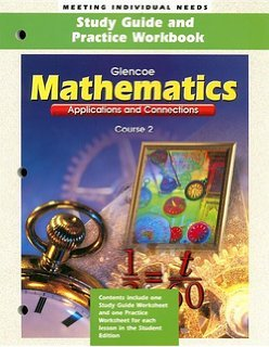 9780078216824: Glencoe Mathmatics Applications & Connections Course 2 Study Guide & Workbook