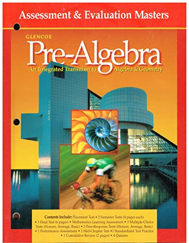 9780078216909: Glencoe Pre-Algebra Assessment & Evaluations Masters