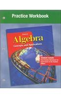 9780078219436: Algebra: Concepts and Applications Practice Workbook