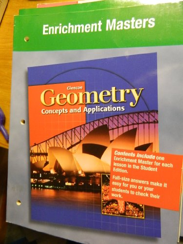 9780078219450: Enrichment Masters (Geometry: Concepts and Applications) [Paperback] by Jerry...