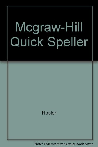 9780078219832: The Mcgraw-Hill Quick Speller, Student Text